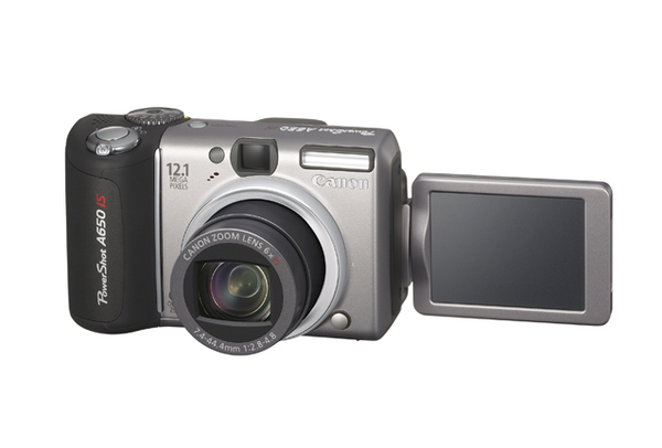 Canon A650IS 12.1Mp 6x Optical Dig Camera Bundle