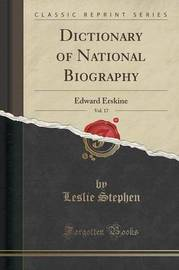 Dictionary of National Biography, Vol. 17 by Leslie Stephen image