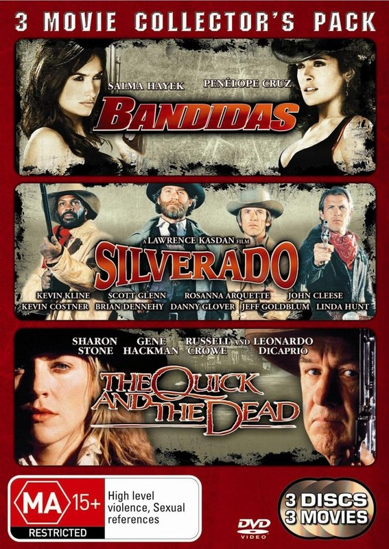 Bandidas / Silverado / The Quick And The Dead - 3 Movie Collector's Pack (3 Disc Set) on DVD