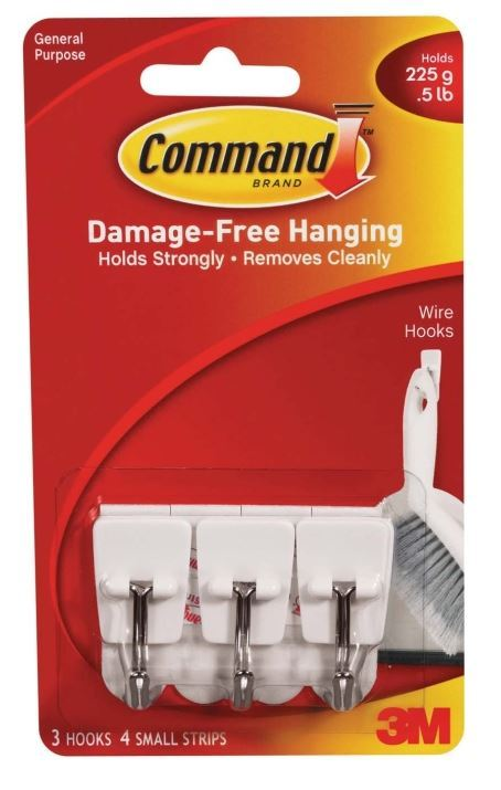 Command Wire Utensil Hooks - White (3 Pack)