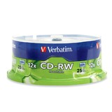 Verbatim CD-RW 700MB Spindle 12x (25 Pack)