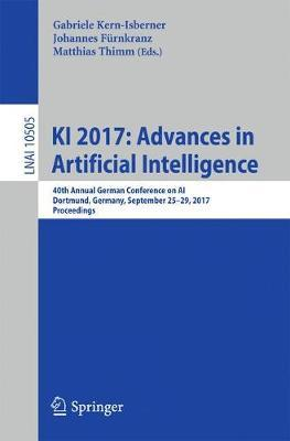 KI 2017: Advances in Artificial Intelligence image