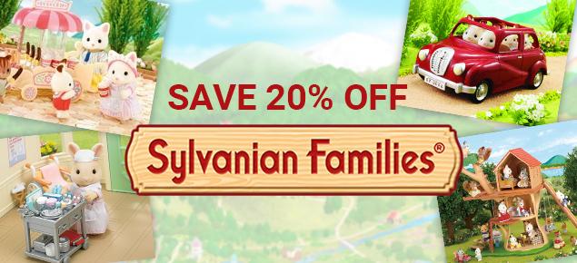 20% off Sylvanian Families!