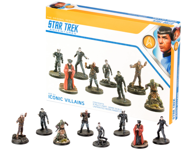 Star Trek Adventures: RPG - Iconic Villains Miniatures set