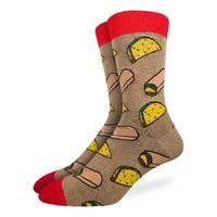 Good Luck Socks: Men's Taco & Burrito Socks - (Shoe Size 7-12)