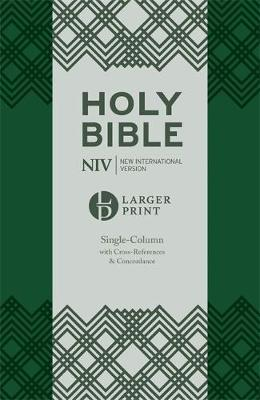NIV Larger Print Compact Single Column Reference Bible by New International Version
