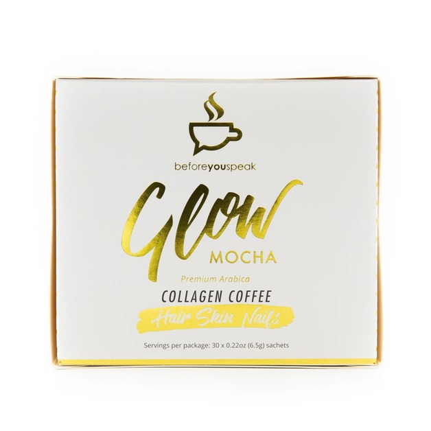 Before You Speak: Glow Collagen Coffee - Mocha (30 x 6.5g)