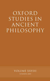 Oxford Studies in Ancient Philosophy XXVIII image