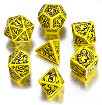 Steampunk Yellow-Black Dice Set