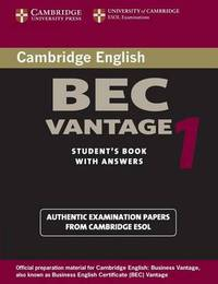 BEC Practice Tests by University of Cambridge Local Examinations Syndicate