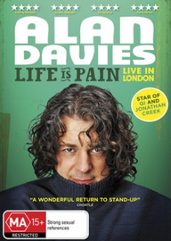 Alan Davies: Life is Pain on DVD