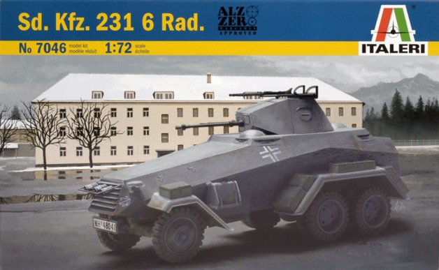Italeri: 1/72 SD.KFZ. 231 6 Radio - Model Kit