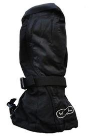 Mountain Wear: Black Waveline Adult Snowboard Mittens (Medium)