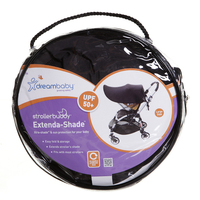Dreambaby Stroller Shade - Black (Large) image