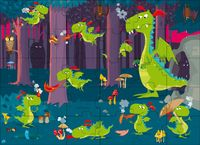 Sassi: Book & Giant Puzzle - Dragon in the Forest by Neil Mathew image