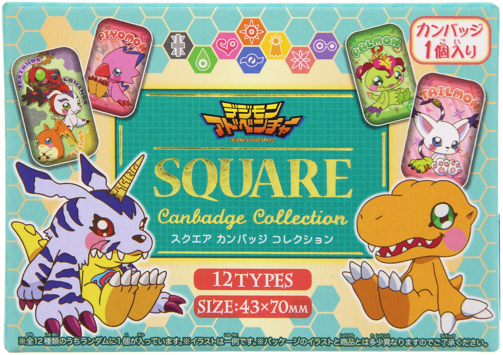 Digimon Adventure: Square Can Badge (Blind Bag) image