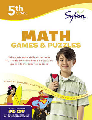 Fifth Grade Math Games & Puzzles (Sylvan Workbooks) by Sylvan Learning image