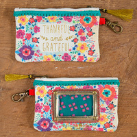 Natural Life: Id Pouch - Thankful & Grateful Turquoise