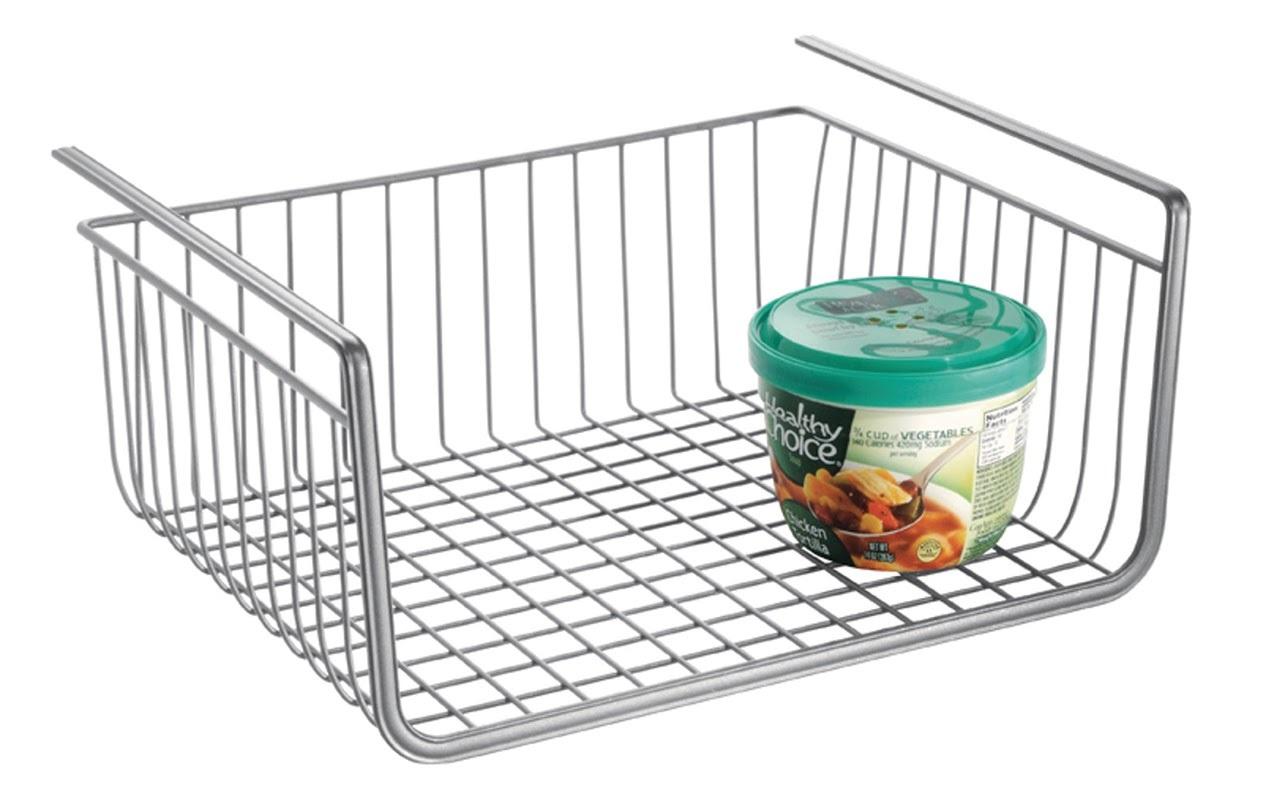 Interdesign Under Shelf Kitchen Basket - Silver | at Mighty Ape ...