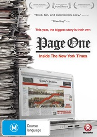 Page One: Inside the New York Times on DVD
