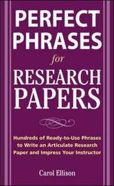 McGraw-Hill's Concise Guide to Writing Research Papers by Carol Ellison image