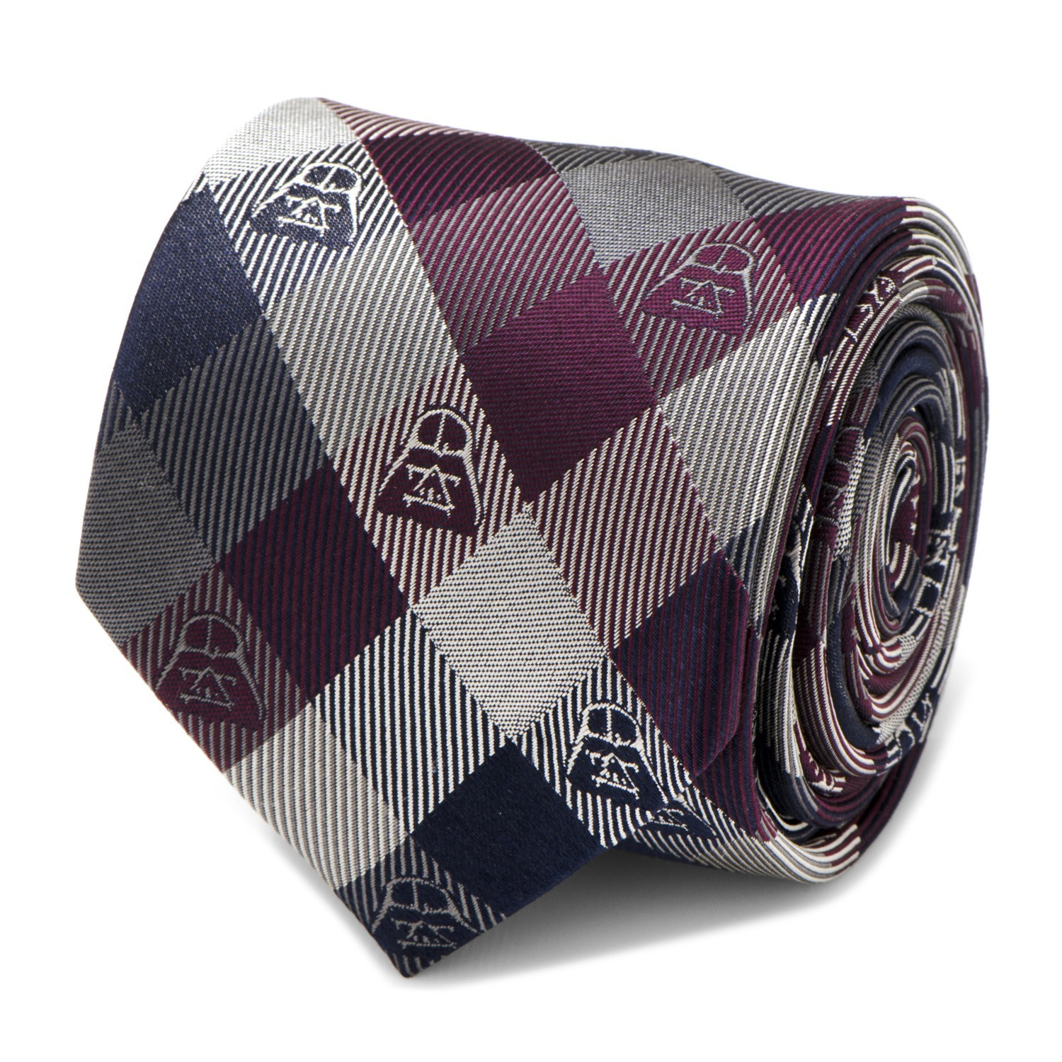 Darth Vader (Plum) - Modern Plaid Tie image