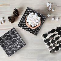Splosh Markings Ceramic Coaster - Stones image