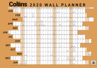 Collins: 2020 Large Laminated Wall Planner image