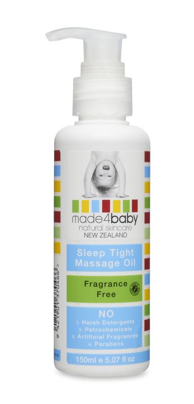 Made4Baby: Sleep Tight Massage Oil - Fragrance Free (150ml)