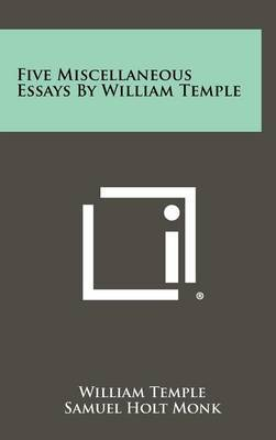 Five Miscellaneous Essays by William Temple by William Temple image