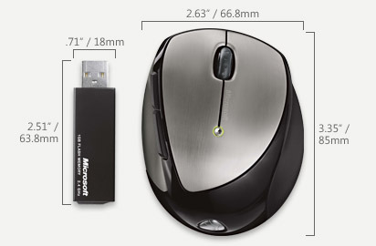 Microsoft Laser Mobile Memory Mouse 8000 USB