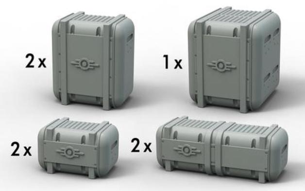 Fallout: Wasteland Warfare - Radioactive Containers