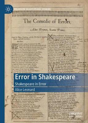 Error in Shakespeare by Alice Leonard