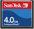 SanDisk CF Compact Flash 4096MB (4GB) Memory