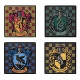 Harry Potter House Crests Square Coaster (4-Pack)