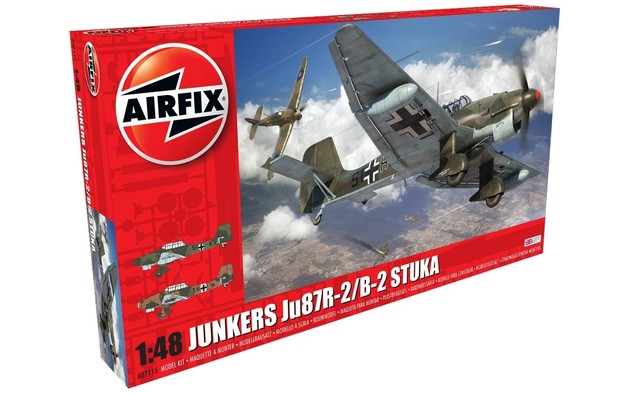 Airfix 1:48 Junkers Ju87R-2/B-2 Stuka Scale Model Kit