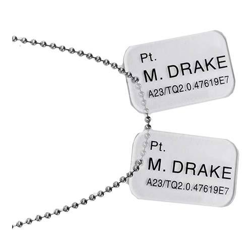 Aliens Pt. Drake Dog Tags Prop Replica image