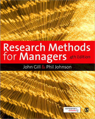Research Methods for Managers by John Gill image