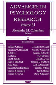 Advances in Psychology Research: Volume 61 image
