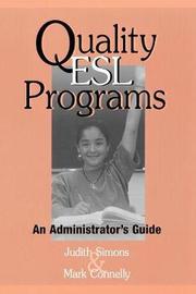 Quality ESL Programs by Judith Simons image