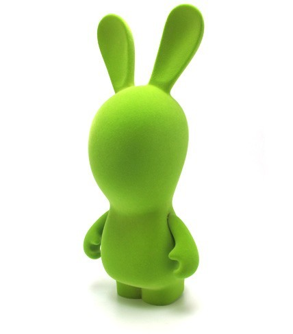 """Raving Rabbids Eeerz 11"""" Velvet Vinyl Figure - Green Rabbid image"""