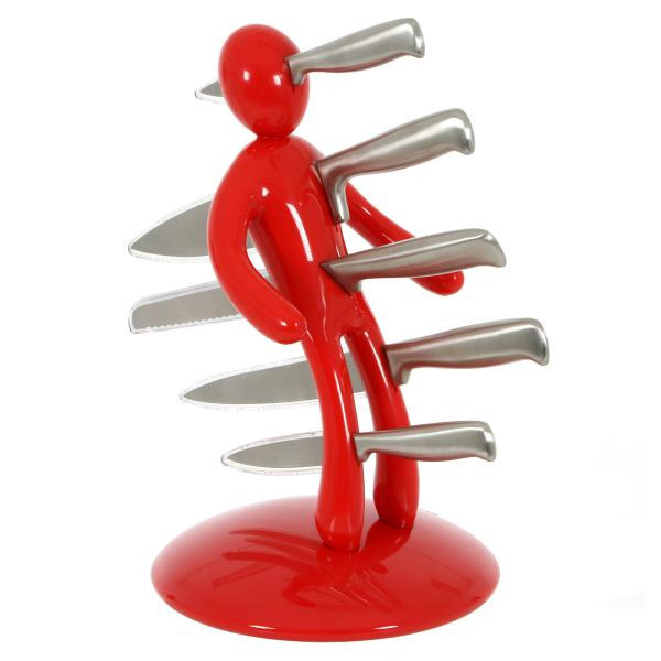 Voodoo Knife Block Set Red At Mighty Ape Nz