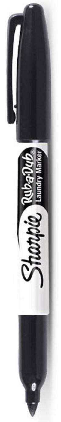 Sharpie Rub-A-Dub Laundry Marker Black