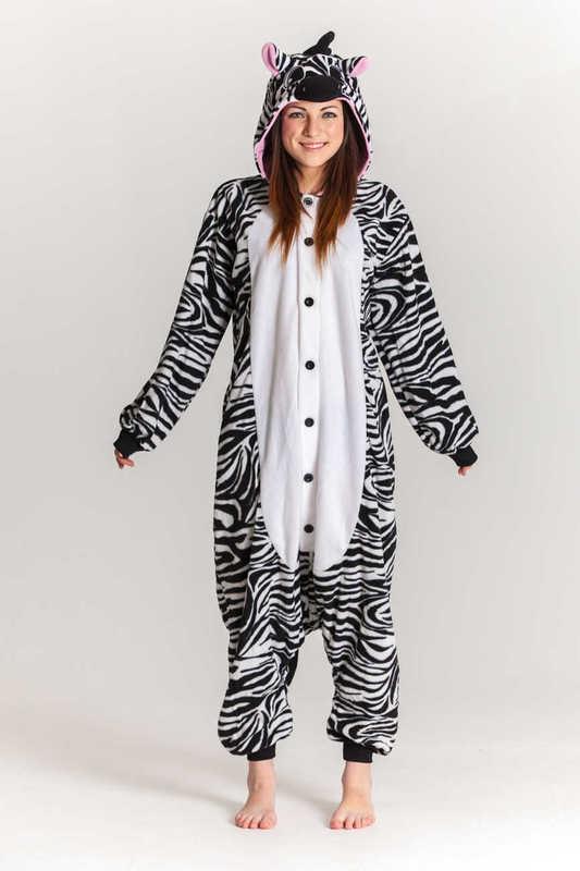 95dc69640f75 Zebra Kigurumi Onesie (Unisex)