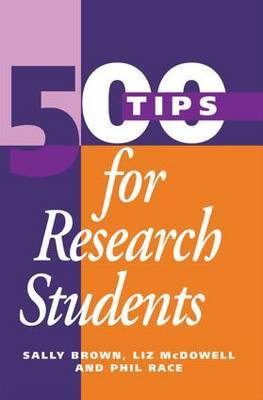 500 Tips for Research Students by Brown Sally image
