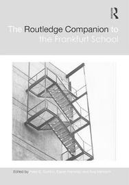 The Routledge Companion to the Frankfurt School image