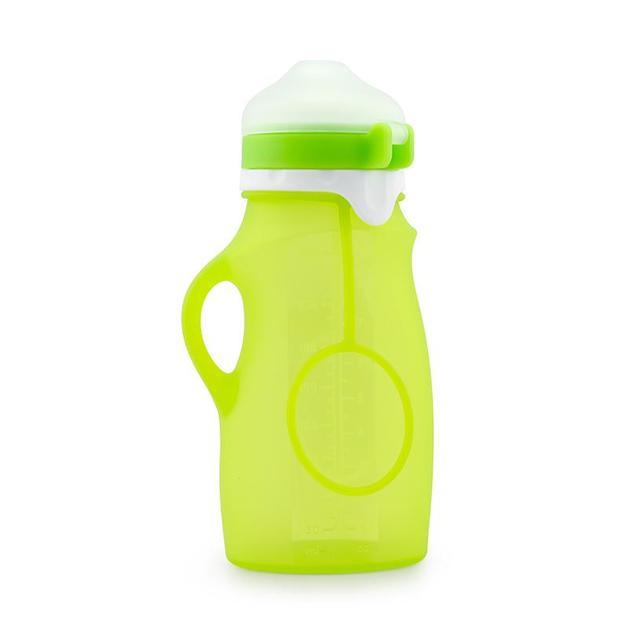 Haakaa: Silicone Feeding Squishy Bottle - Green (250ml)