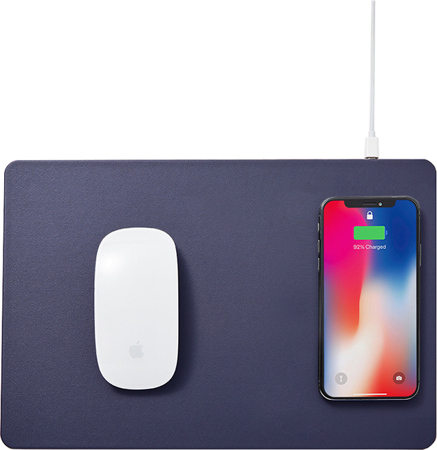 Pout HANDS 3 Wireless Charging Mouse Pad Midnight Blue