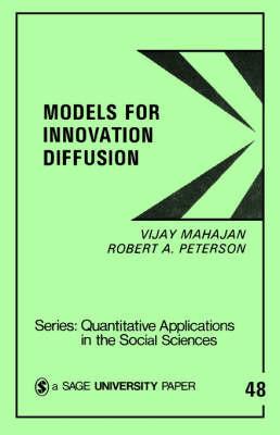 Models for Innovation Diffusion by Vijay Mahajan image