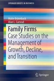 Family Firms by Malin E. Brannback